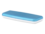 Pevné puzdro na jednodňové šošovky - modré