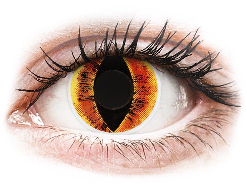 ColourVUE Crazy Lens - nedioptrické (2 šošovky) Saurons Eye