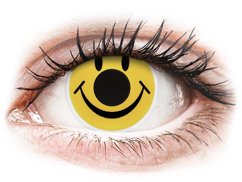 ColourVUE Crazy Lens - nedioptrické (2 šošovky) Smiley