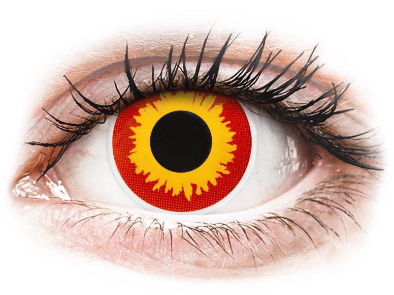 ColourVUE Crazy Lens - nedioptrické (2 šošovky) Wildfire