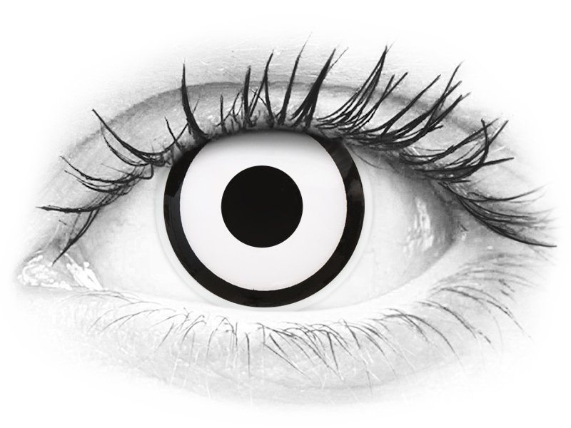 6d9107dcb ColourVUE Crazy Lens – White Zombie – dioptrické (2 šošovky) | Alensa SK