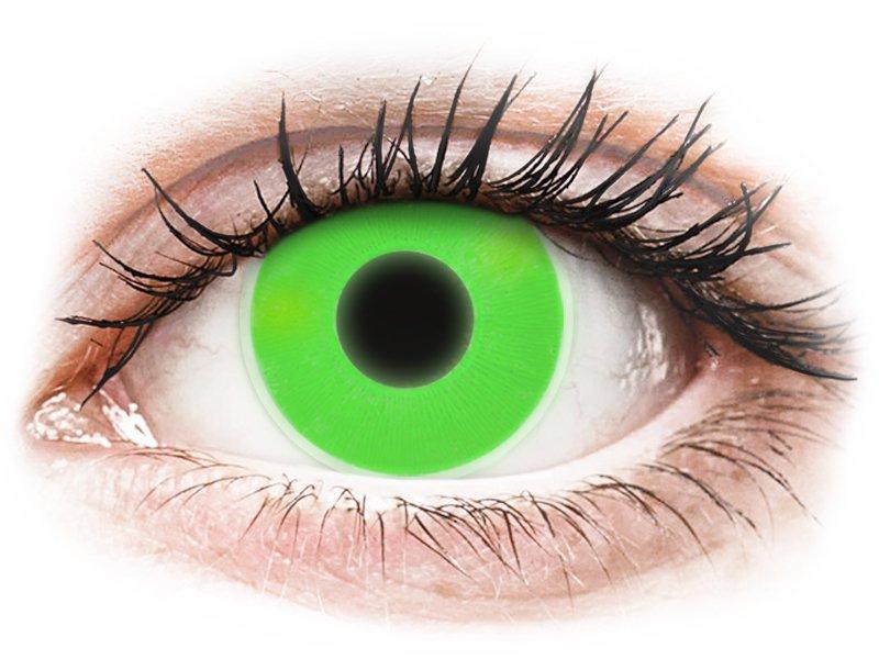 ColourVUE Crazy Glow - nedioptrické (2 šošovky) Green