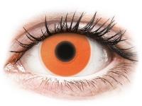 alensa.sk - Kontaktné šošovky - ColourVUE Crazy Glow Orange - nedioptrické