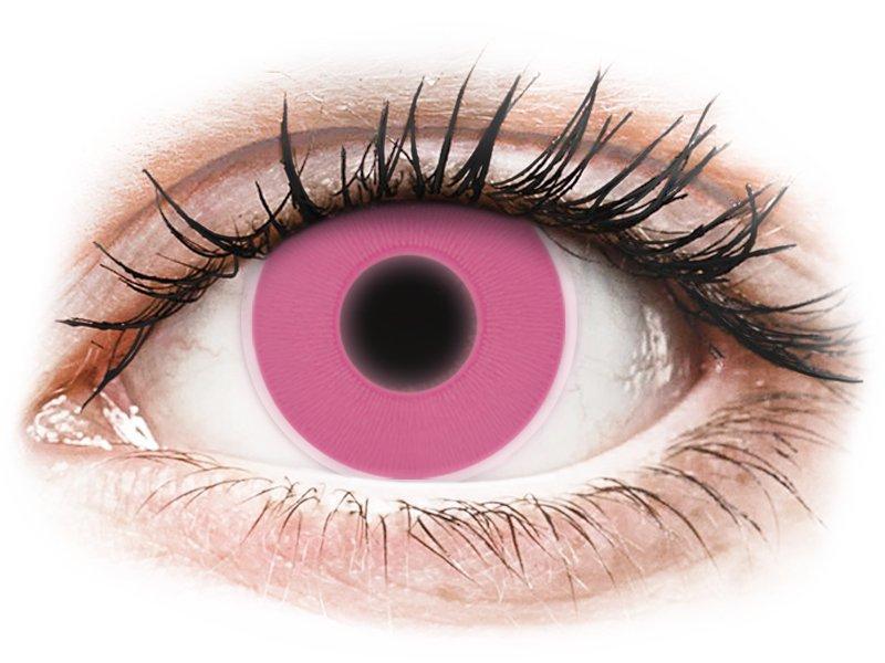 ColourVUE Crazy Glow - nedioptrické (2 šošovky) Pink