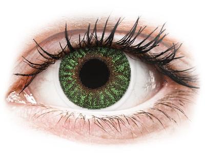 TopVue Color - Green - nedioptrické (2 šošovky)