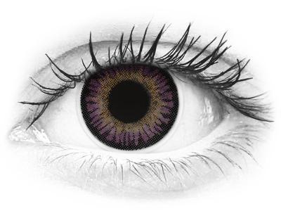 ColourVUE 3 Tones Violet - nedioptrické (2šošovky)