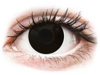 alensa.sk - Kontaktné šošovky - ColourVUE Crazy Lens - Blackout - jednodenné nedioptrické