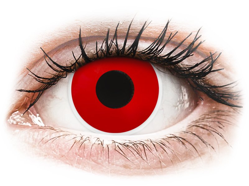 ColourVUE Crazy Lens - nedioptrické jednodenné (2 šošovky) Red Devil