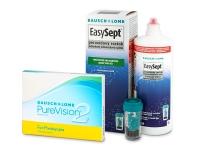 PureVision 2 for Presbyopia (3 šošovky) + roztok EasySept 360 ml