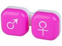 alensa.sk - Kontaktné šošovky - Puzdro na šošovky muž a žena - ružové