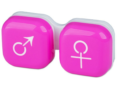Puzdro na šošovky muž a žena - ružové