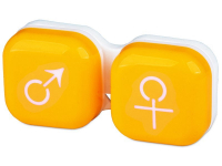 alensa.sk - Kontaktné šošovky - Puzdro na šošovky muž a žena - žlté