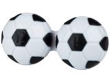 alensa.sk - Kontaktné šošovky - Puzdro na šošovky Futbal - čierne