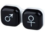 alensa.sk - Kontaktné šošovky - Puzdro na šošovky muž a žena - čierne