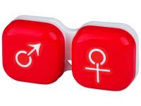 alensa.sk - Kontaktné šošovky - Puzdro na šošovky muž a žena - červené