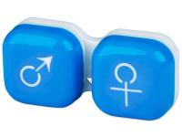 alensa.sk - Kontaktné šošovky - Puzdro na šošovky muž a žena - modré