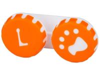 alensa.sk - Kontaktné šošovky - Puzdro na šošovky Labka - oranžové