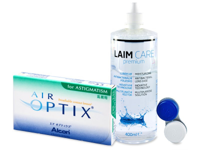 Air Optix for Astigmatism (6 šošoviek) + roztok LAIM CARE 400 ml