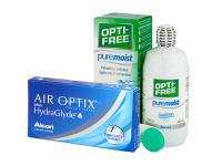 alensa.sk - Kontaktné šošovky - Air Optix plus HydraGlyde (3 šošovky)