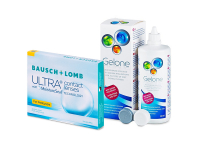 Bausch + Lomb ULTRA for Presbyopia (3 šošovky) + roztok Gelone 360 ml