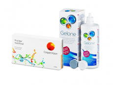 Proclear Multifocal (6 šošoviek) + roztok Gelone 360 ml