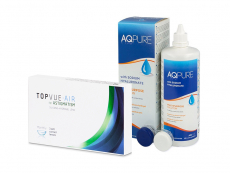 TopVue Air for Astigmatism (3 šošovky) + roztok AQ Pure 360 ml
