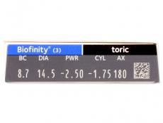 Biofinity Toric (3šošovky)