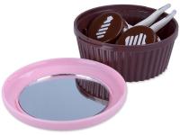 alensa.sk - Kontaktné šošovky - Kazeta so zrkadielkom Muffin – ružová