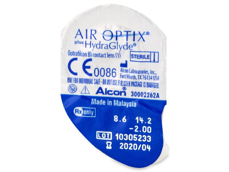 Air Optix plus HydraGlyde (6 šošoviek)